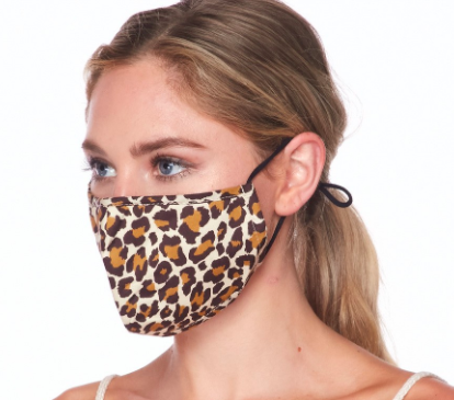 Lilac Dream face mask, brown animal MK1002