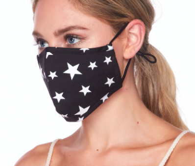 Lilac Dream face mask, star print, MK1040
