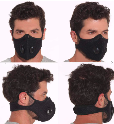 Sports Face Mask with 2 valves