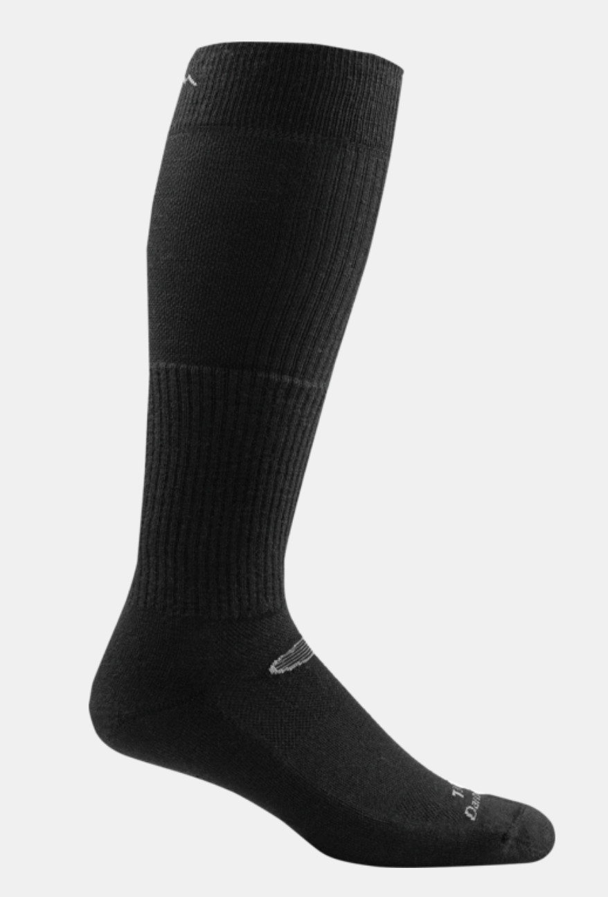 Darn Tough Unisex Tactical over-the-calf light cushion Traveler Compression Sock T3006