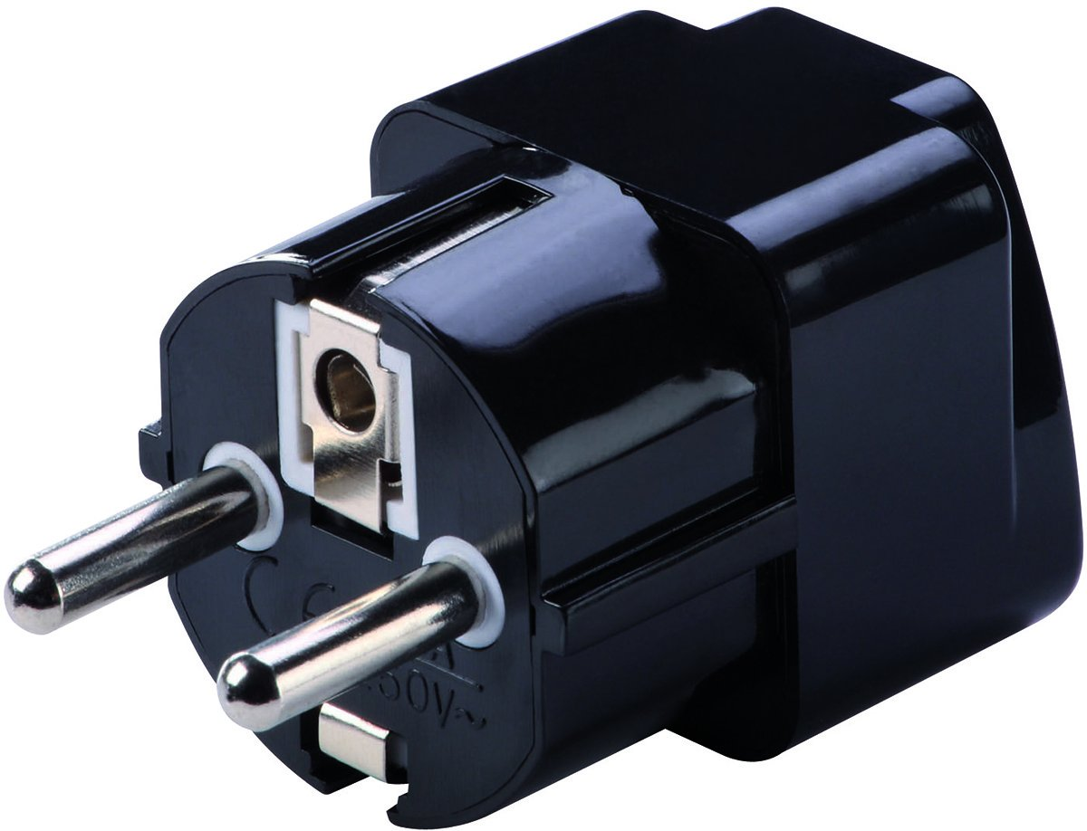 Grounded European Adapter Asia and  Europe