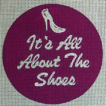 It's All About the Shoes<BR>Needlepoint Ornament