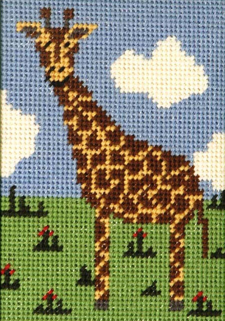 Beginner Needlepoint Kit Giraffe