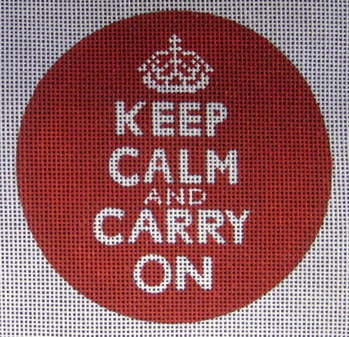 Keep Calm Needlepoint Ornament