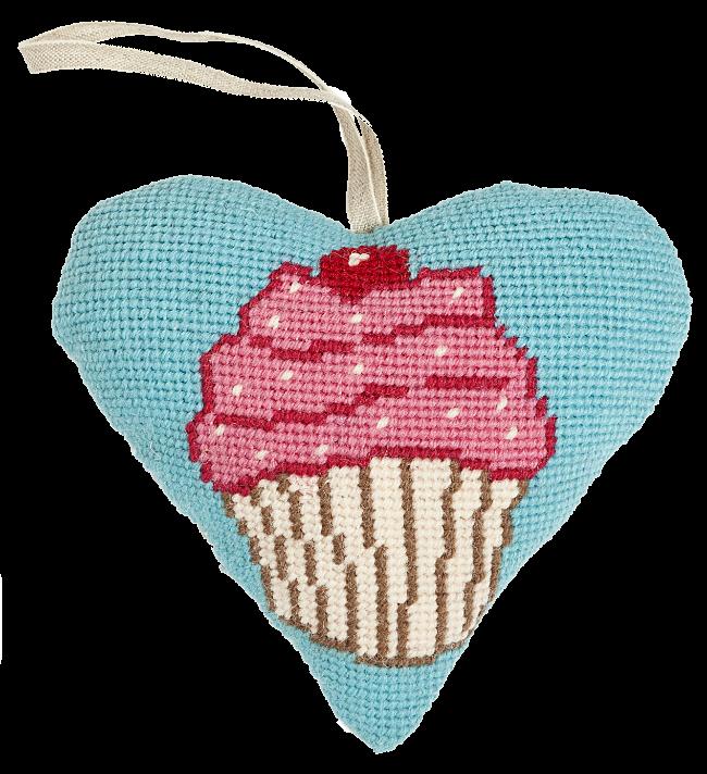 Cupcake Needlepoint Ornament Kit