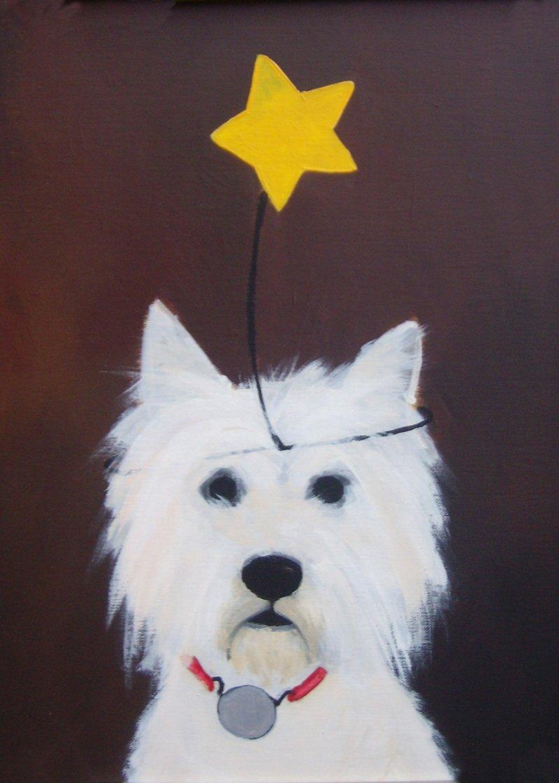 Westie Dog Needlepoint
