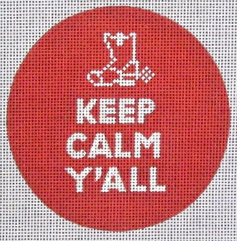 Keep Calm Y'All<BR>Needlepoint Ornament