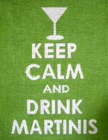 Keep Calm & Drink Martinis Needlepoint