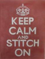 Keep Calm & Stitch On Needlepoint