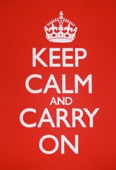 Keep Calm & Carry On Needlepoint<BR>(Red)