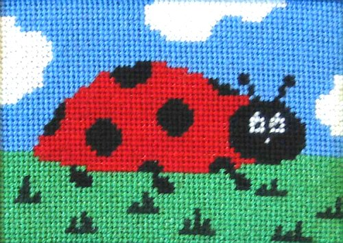 Beginner Needlepoint Kit Ladybug