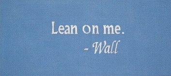 Lean On Me Needlepoint