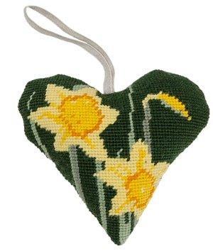 Dafodil Heart Needlepoint Ornament Kit -