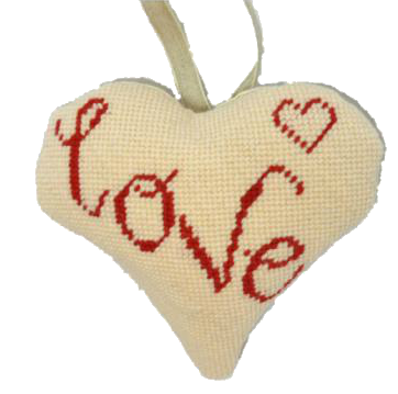 Love Needlepoint Ornament Kit