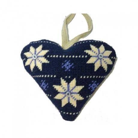 Scandinavian Heart Needlepoint Ornament Kit