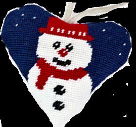 Snowman Needlepoint Ornament Kit