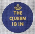 The Queen Is In<BR>Needlepoint Ornament