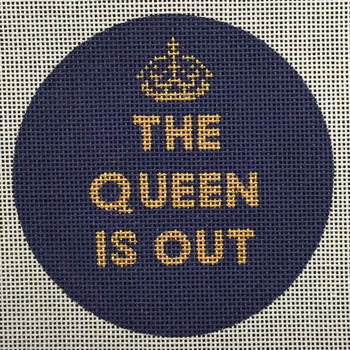 The Queen Is Out<BR>Needlepoint Ornament