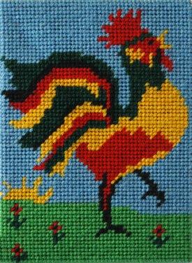 Beginner Needlepoint Kit Rooster