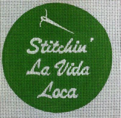 Stitchin La Vida Loca<BR>Needlepoint Ornament