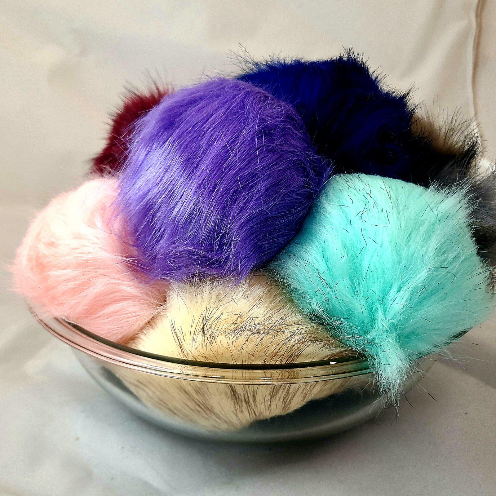 Real Fox Fur Pom Poms (15cm )