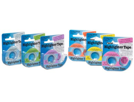 Highlighter Tape - 1/2 Removeable