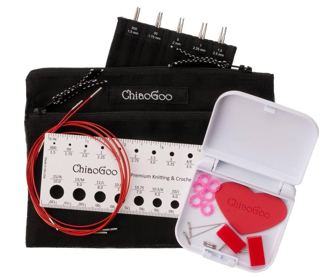 Set-ChiaoGoo-IC-Twist Red Lace 5 Mini