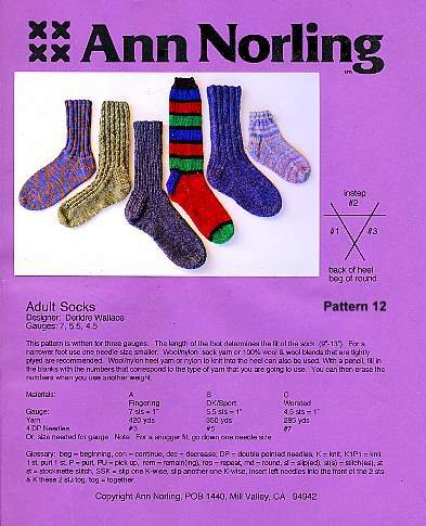 Adult Basic Socks - pattern