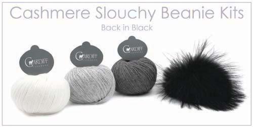 Cashmere Slouchy Beanie Kit (with Pom Pom)