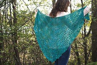 Bridgeward Leaves Shawl Pattern