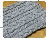 Easy Cabled Cowl Class Kit - Snow