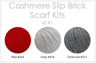 Cashmere Slip Brick Scarf Kit
