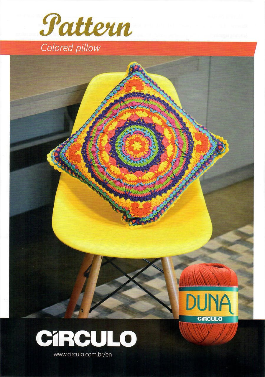 Circulo Duna Colored Pillow Pattern (Digital Download)