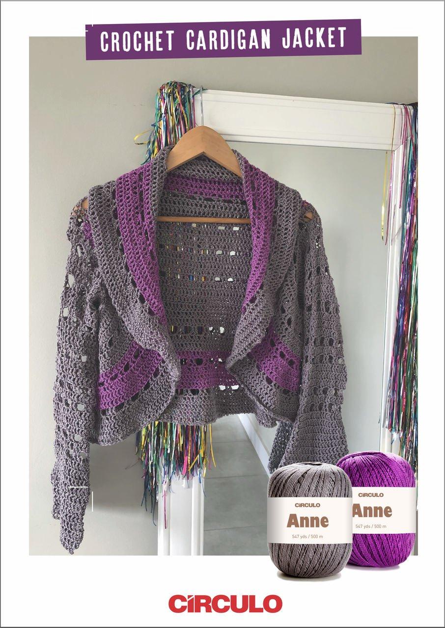 Circulo Crochet Cardigan Jacket Pattern (Digital Download)