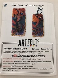 Say Hello to Artfelt:  Abstract Eyeglass Case