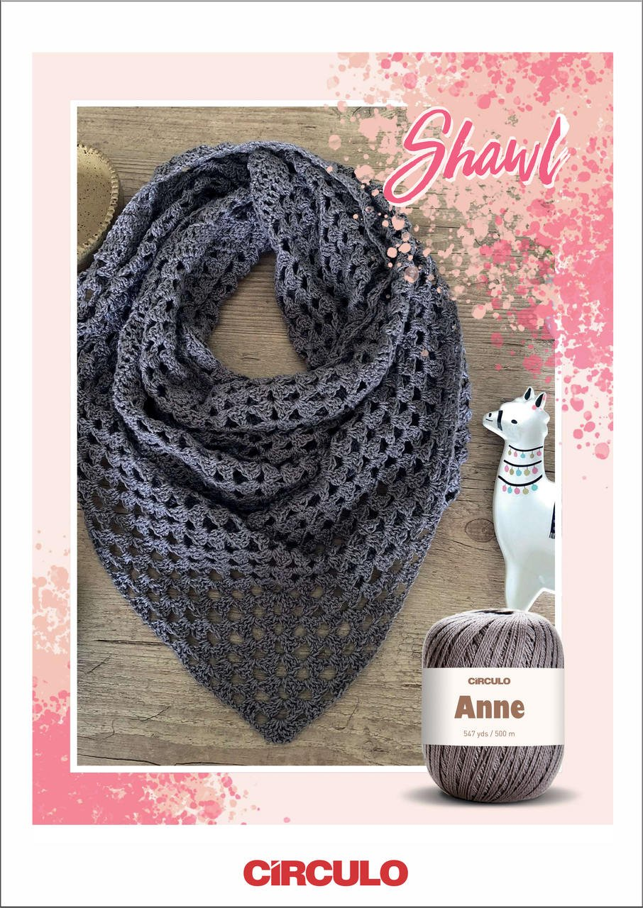 Circulo Gray Shawl Pattern (Digital Download)