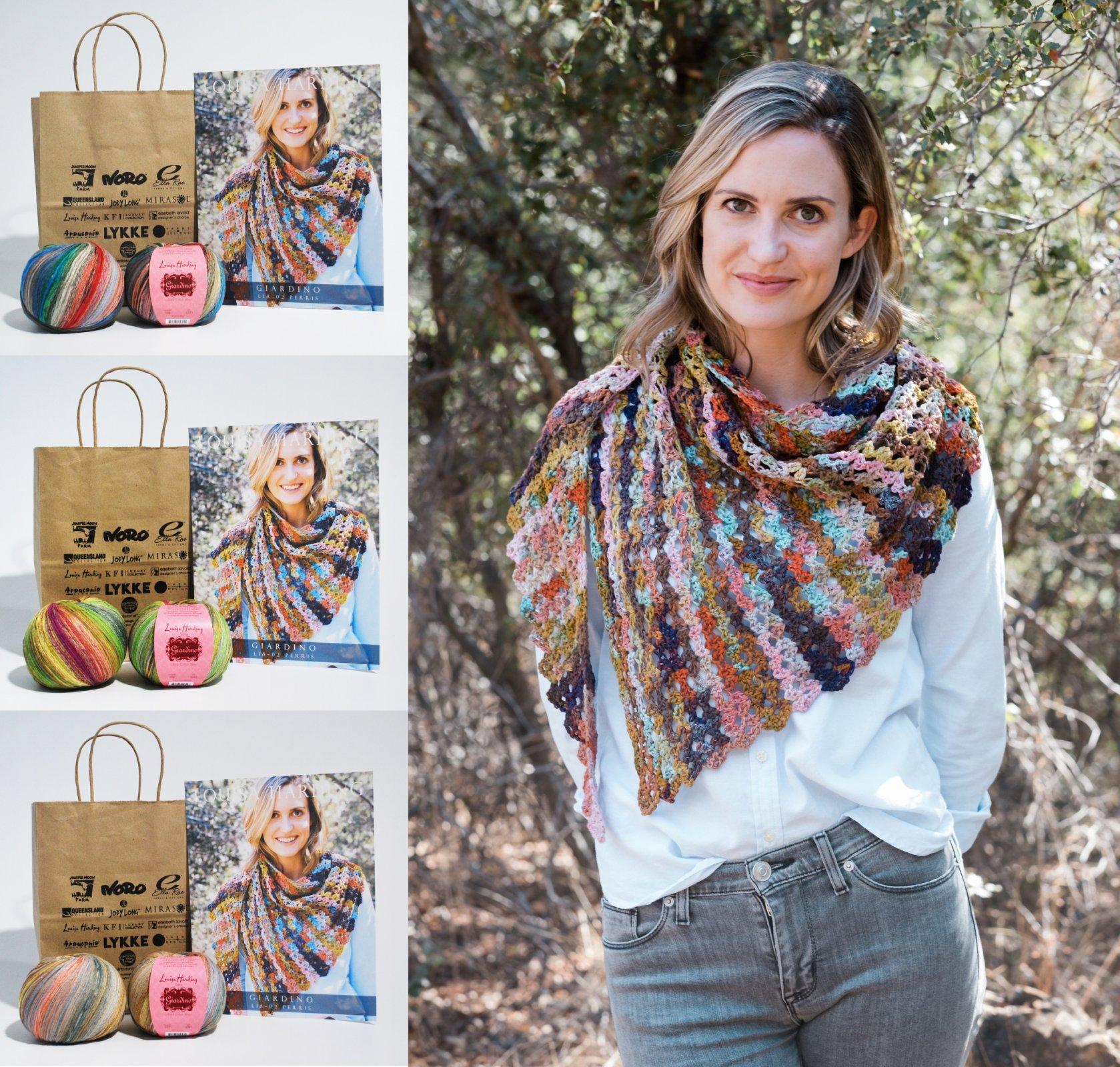 Perris Crochet Shawl in Giardino  (KFI Lockdown Relief Kit)