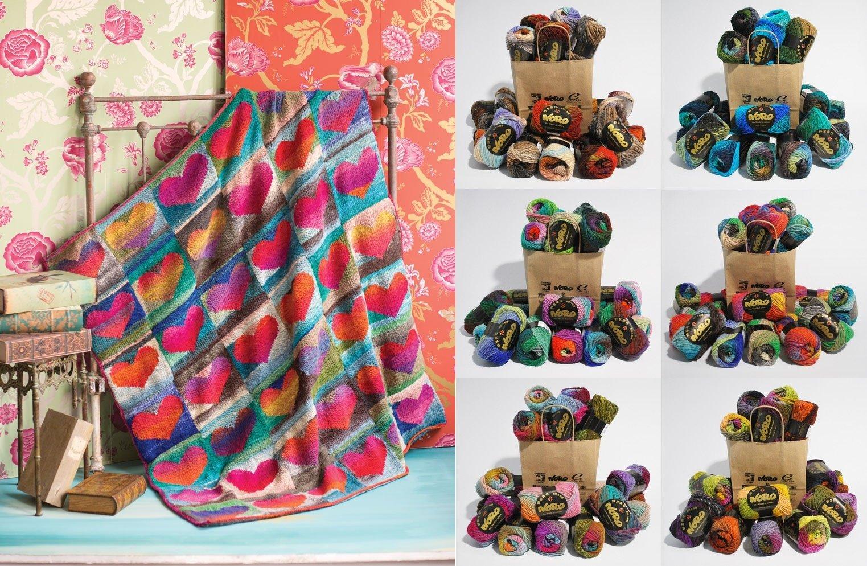 Heart Blanket in Kureyon  (KFI Lockdown Relief Kit)