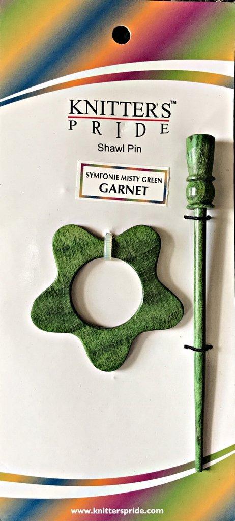 Misty Green Shawl Pin