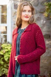 I Found Him Lacy Cardigan Kit LG Cashmere 16 Fine(Outlander by Trendsetter)