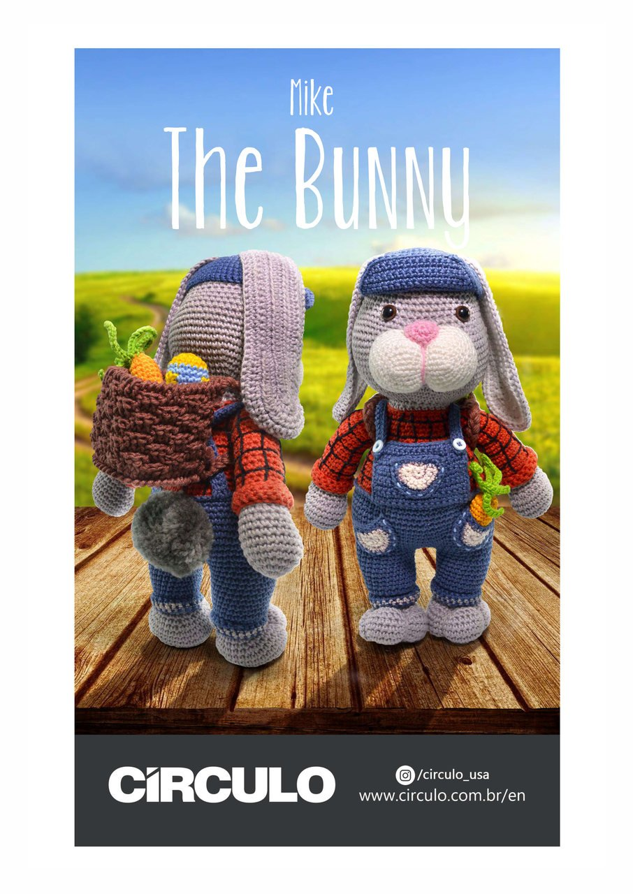 Circulo Mike the Bunny Amigurumi Pattern (Digital Download)
