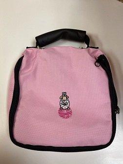 Pink Circular Needle Bag with SHEEP THRILLS Logo  (SHEEP THRILLS Exclusive)