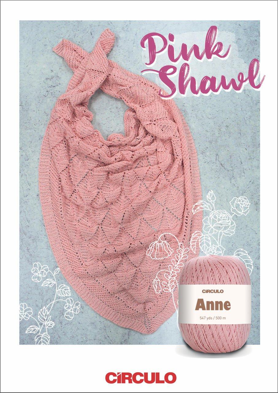 Circulo Pink Shawl Pattern (Digital Download)