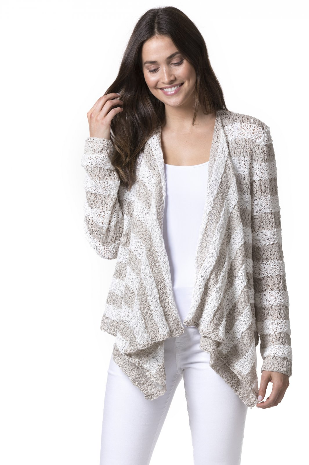 Structural Striped Cardigan Pattern