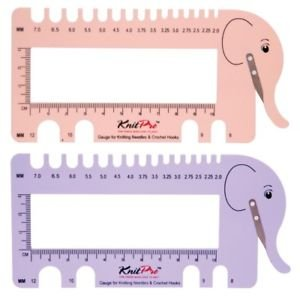 Elephant Needle Gauge and Yarn Cutter