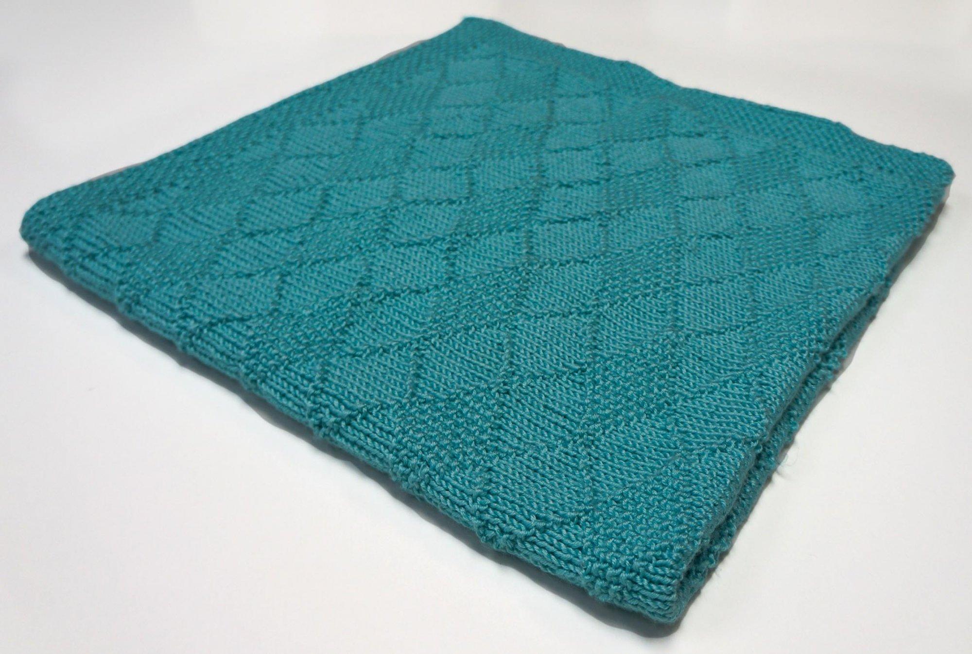Diamond Seed Stitch Baby Blanket Kit (SHEEP THRILLS Exclusive)