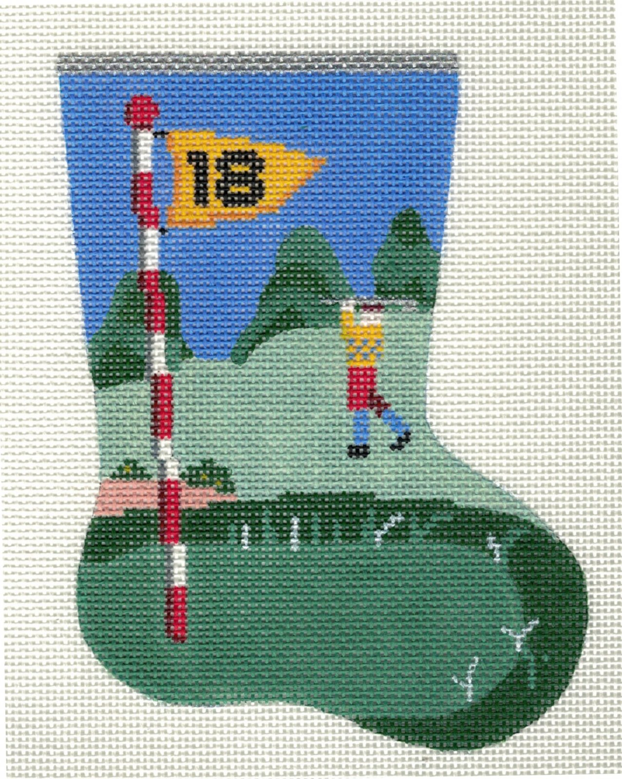 18th Hole Mini Sock Ornament - 18M