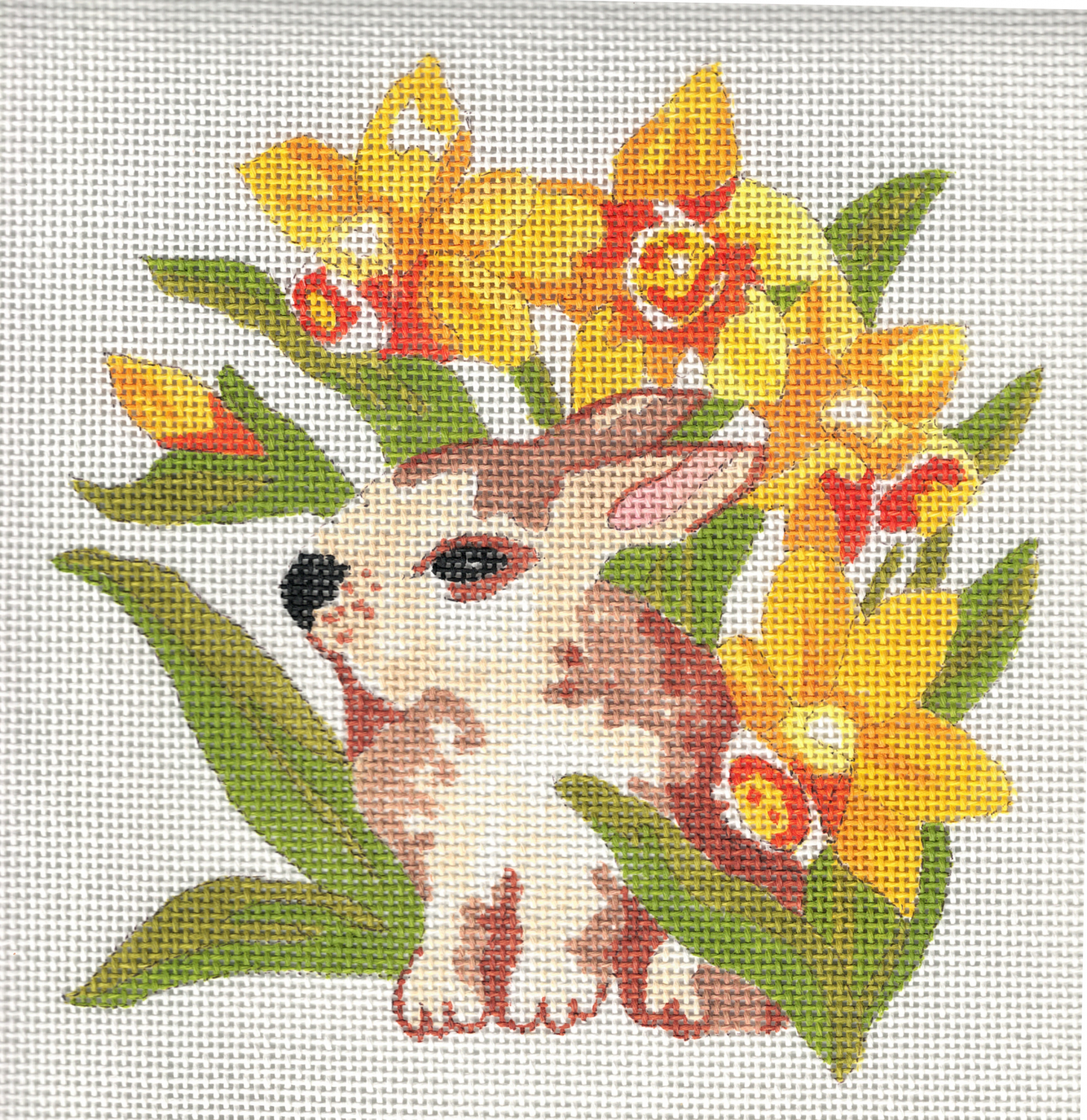 Bunny with Daffodils - 14M