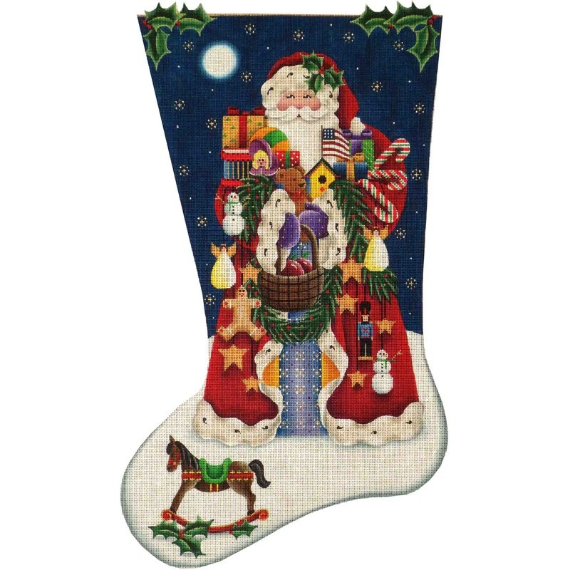 American Santa Stocking