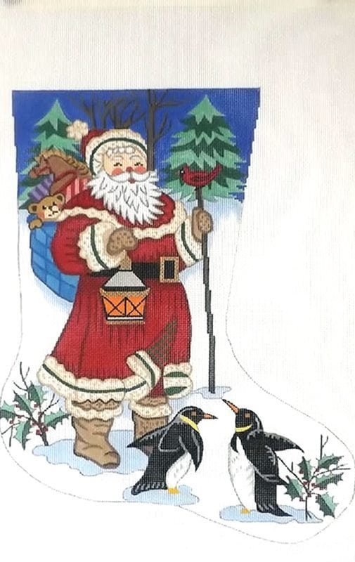 Santa with Peguins Stocking -18M